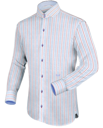 Overhemd Rood with Button Down