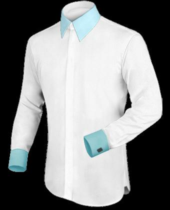 Overhemd Stropdas with French Collar 2 Button