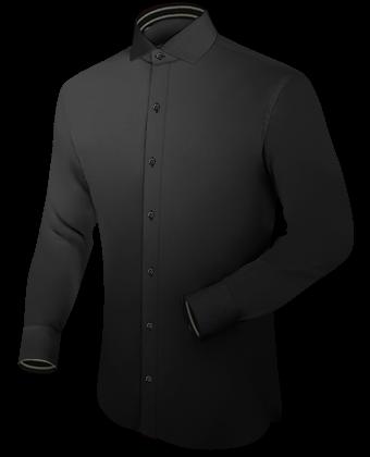 Overhemden Mouwlengte 7 with Italian Collar 1 Button