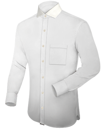 Personalized Shirts with Italian Collar 1 Button