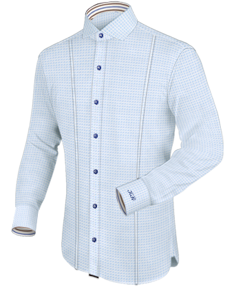 Roze Overhemden with French Collar 1 Button