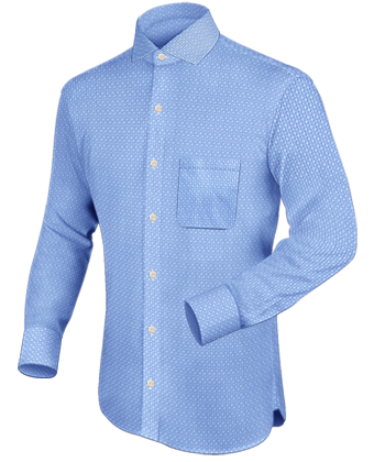 School Shirt Designs with Italian Collar 1 Button