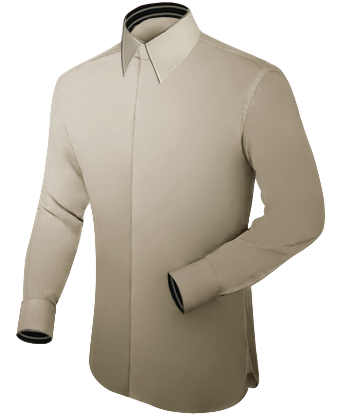 Shirt For Uniform with French Collar 1 Button