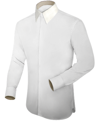 Shirt Logo Design with French Collar 1 Button
