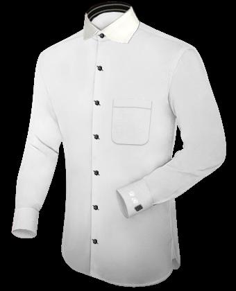 Shirt Uniform with English Collar