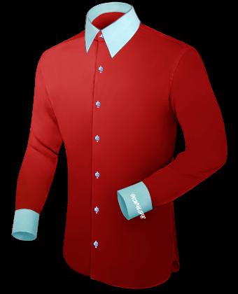 Shirts Bedrukken with French Collar 1 Button