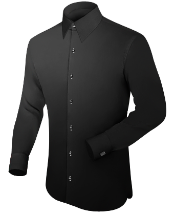 Slim Dress Shirt with French Collar 1 Button