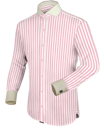 Slim Fit Shirt with Cut Away 1 Button