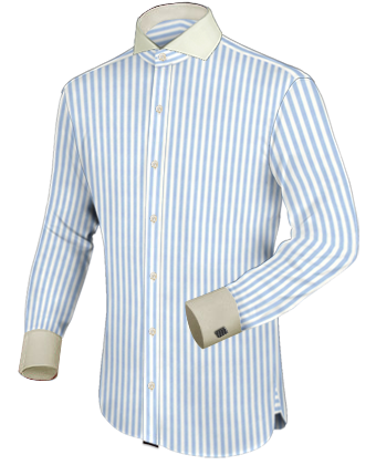 Slim Shirt with Cut Away 1 Button