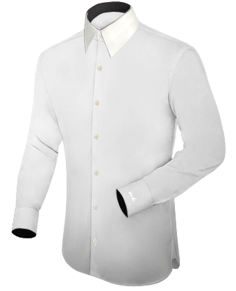 Grote Maten Dames Mode with French Collar 1 Button