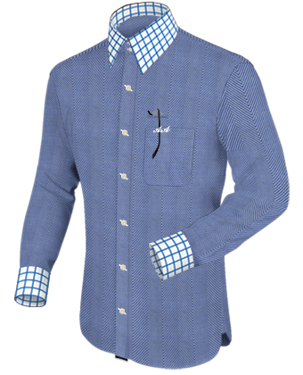 Uniform Shirt with French Collar 2 Button