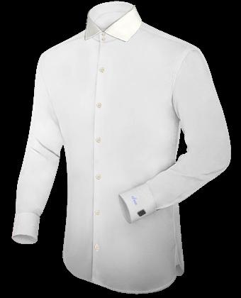 Zijden Overhemd with Italian Collar 2 Button