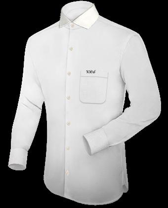 37 5 Overhemd with Italian Collar 1 Button