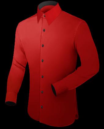 Aanbieding Heren Overhemden with French Collar 1 Button
