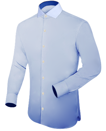 Aanbieding Italiaanse Overhemden with Italian Collar 1 Button