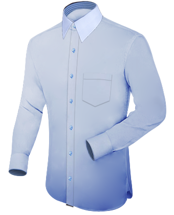 Aanbiedingen Maathemden with French Collar 1 Button