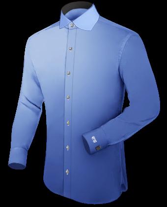 Aubergine Overhemd with Italian Collar 1 Button