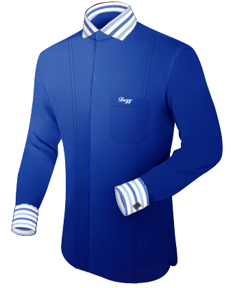 Basis Overhemd with Italian Collar 2 Button