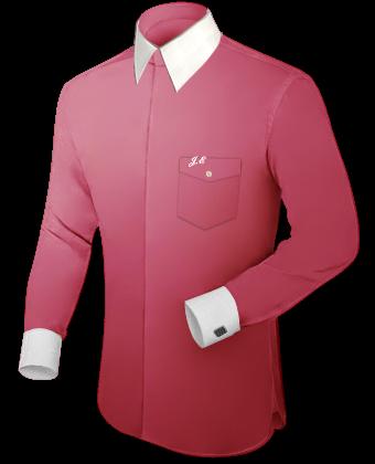 Bloemetjes Overhemden with Italian Collar 1 Button