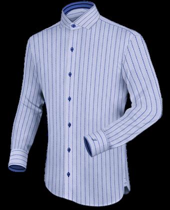 Bloemetjesoverhemd with French Collar 2 Button