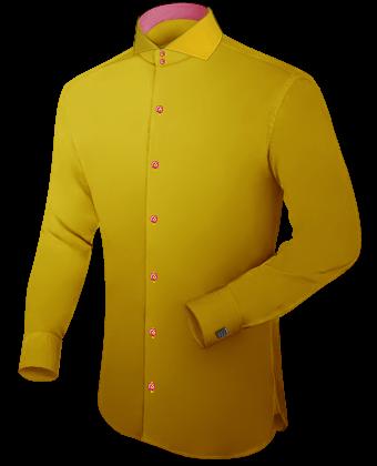 Blokjes Overhemden with Italian Collar 1 Button