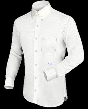 Boord Maat Overhemden with Hidden Button