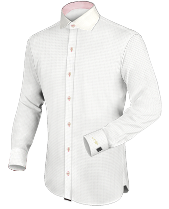 Bordeaux Overhemden with Italian Collar 1 Button