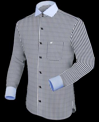 Business Shirt with Italian Collar 1 Button
