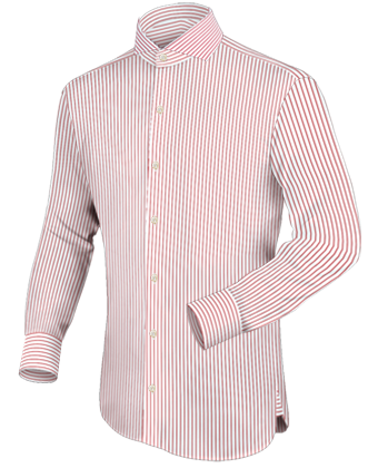 Hemden Met Hoge Kraag with English Collar