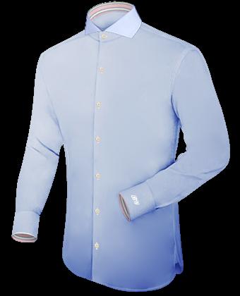 Casual Shirt Op Maat with Cut Away 1 Button