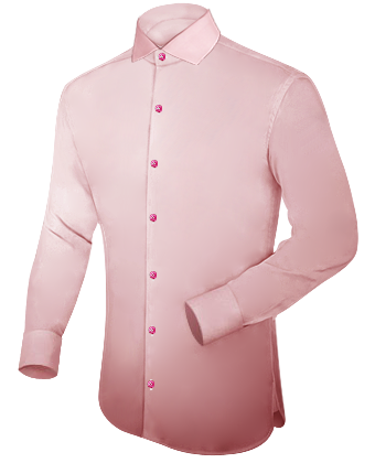 Confectie Overhemden with Italian Collar 1 Button