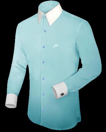 Commander Heren Overhemden with French Collar 1 Button