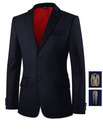 Online Kostuum Kopen with 2 Buttons, Single Breasted